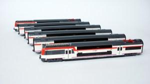 IH - Tren Automotor UT450, Dos pisos, Versión Rojo-Blanco-Pantone, Serie limitada, Escala N, Ref: IH-T005.