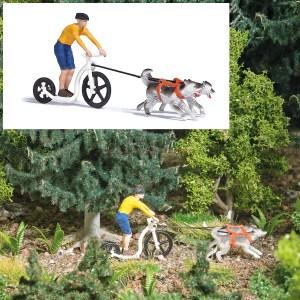Busch - Scooting con perros, Escala H0, Ref: 7814.