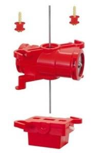 Motor para desvios Twistlock con microinterruptor doble, valido para todas las escalas, Mastil de 42 mm. Marca Peco, Ref: PL-1001.