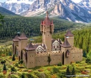 Vollmer - Gran Castillo de la edad media, Epoca I, Kit para montar, Escala H0, Ref: 49910.