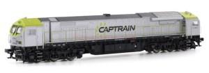 Mehano - Locomotora Diesel BT2, CAPTRAIN, Epoca VI, Escala H0, Analogica, Ref: 58914.