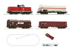 Roco - Set de iniciación Loc. Diesel clase 2048, OBB, Con tres vagones, Digital, Z21 y mando, Ref: 51322.