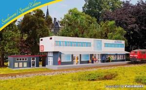 Kibri - Estación de Altburg, Kit para montar, Epoca VI, Escala H0, Ref: 12508.