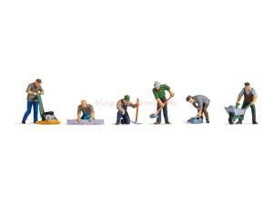 Noch - Trabajadores de la carretera, 6 Figuras, Escala N, Ref: 36112.