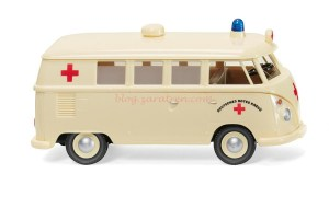 Wiking - Furgoneta Wolkswagen T1, Ambulancia DRK, Escala H0, Ref: 079729.