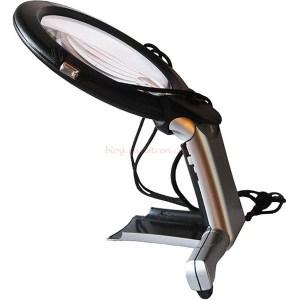 Dismoer - Lupa con Soporte o para Colgar, con dos luces LED, Ref: 19309.