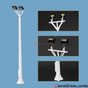 Zaratren - Torre Iluminación de dos focos, Tipo 81, Tecnologia LED, Escala N, Ref: ZT-FR2033.