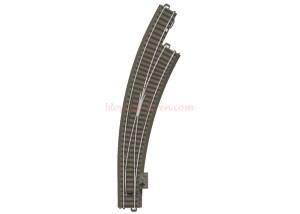 Trix - Desvio en curva a interior a Derechas, R3, 30º, 515 mm, Escala H0, Ref: 62772.