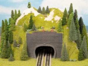 Noch - Boca de tunel de via doble, 9 x 7 cm, Escala Z, Ref: 44800.