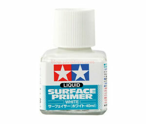 Tamiya - Liquid Surface Primer Blanco, Bote 40 ml, Ref: 87096.