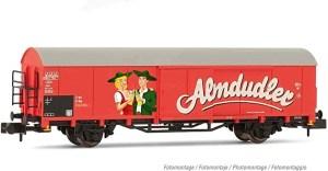 "Arnold - Vagón cerrado de dos ejes, OBB, "" Almdudler "", Tipo Gbs, Epoca IV-V, Escala N, Ref: HN6498"