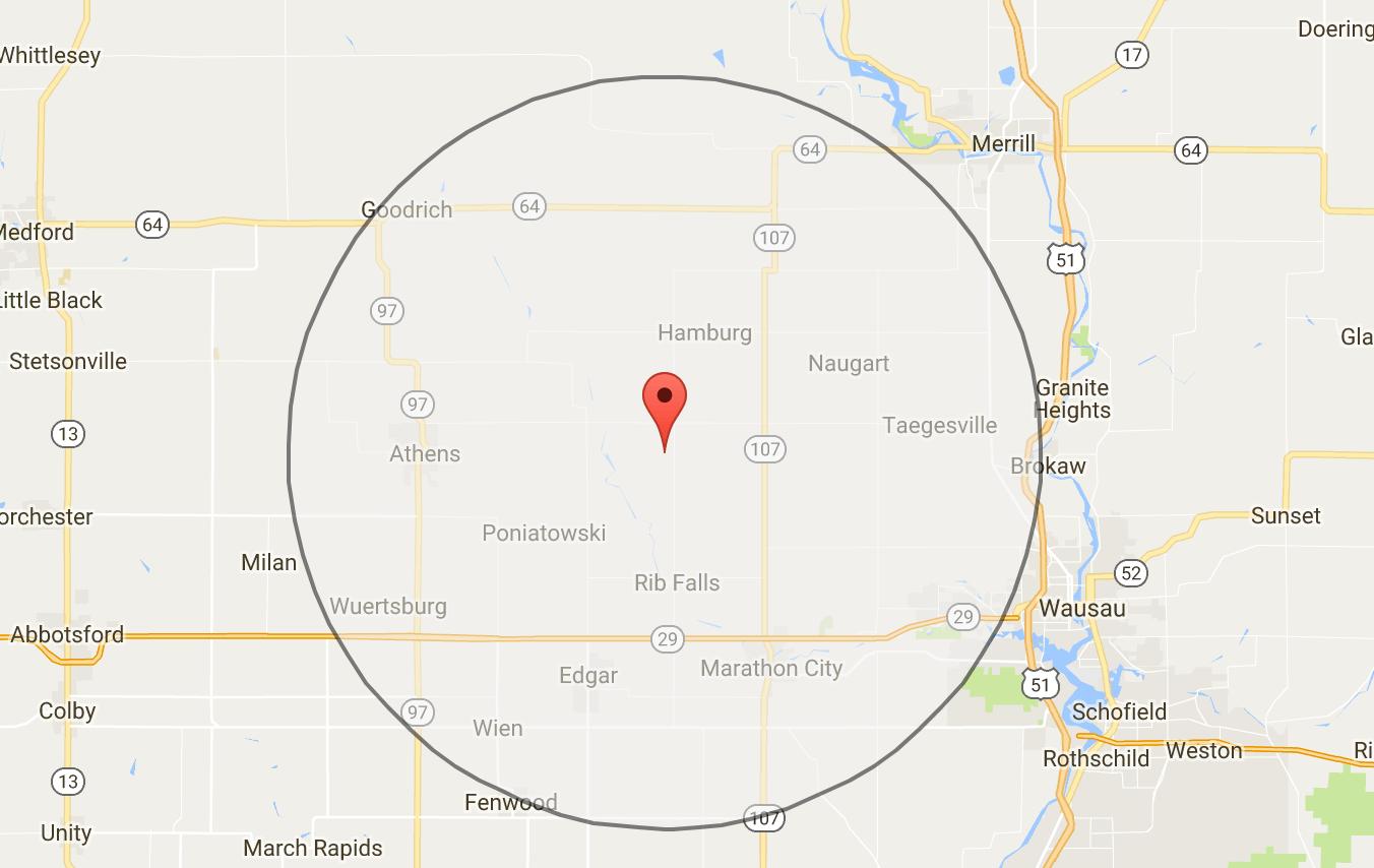 Make A 20 Km Radius Buffer Around A Point Using