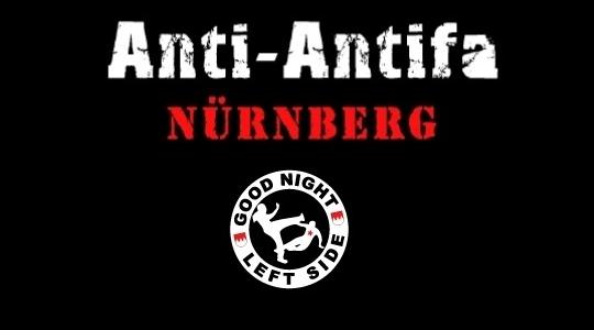 "Schriftzug der ""Anti- Antifa Nürnberg"" (AAN) © Screenshot /TM"