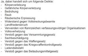 Delikte Aktionsgruppe Nordhausen