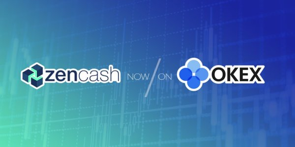 zencash listed on OKEx exchange