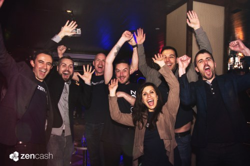 ZenCash Team At 1st anniversary party