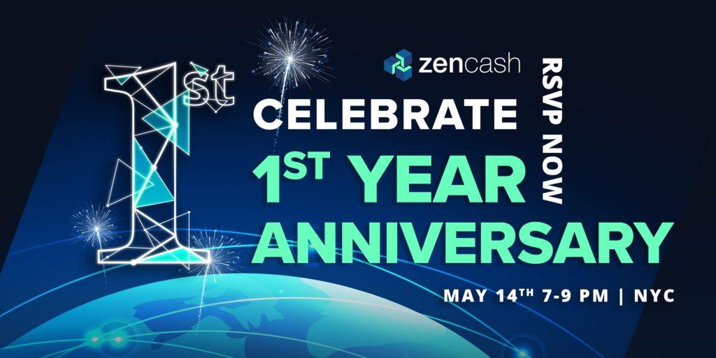 zencash first anniversary invitation rsvp