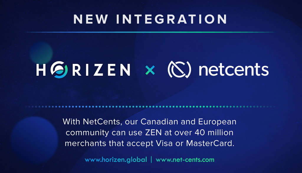 Horizen and Netcents are Teaming Up!