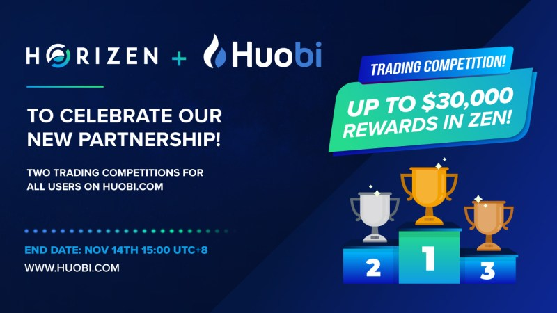 Horizen Listed on Huobi Competitions
