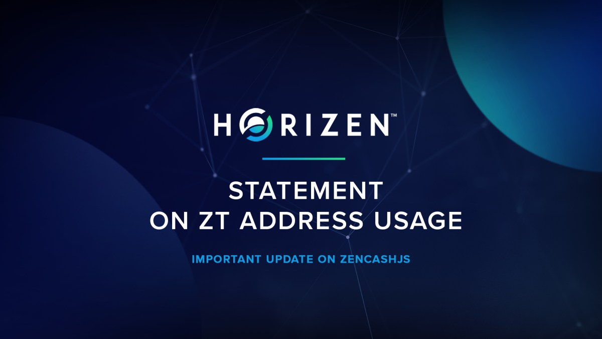 Statement on ZT Address Usage