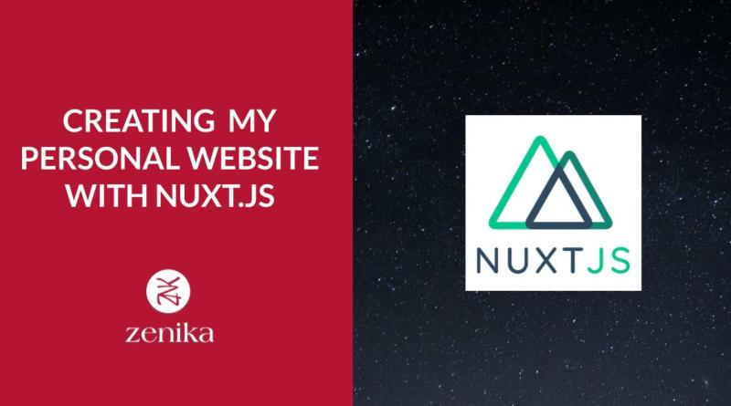 Creating my personal website with NuxtJS