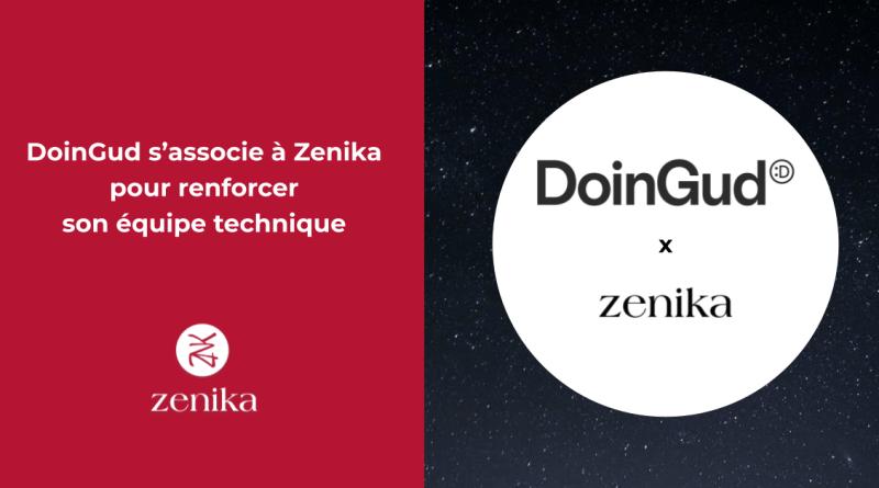 DoinGud s'associe à Zenika pour renforcer son équipe technique