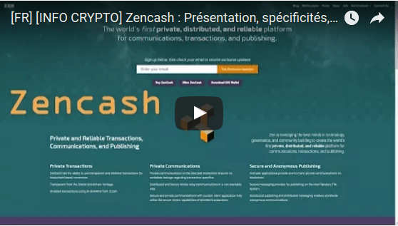 ZenCash Video Overview in French