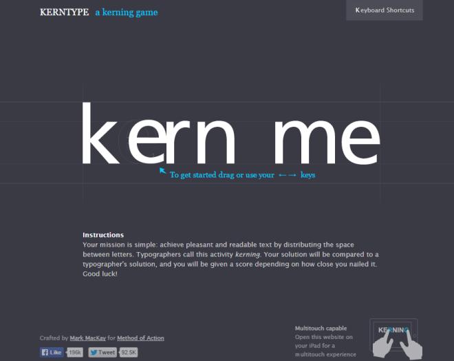 Kerning Game