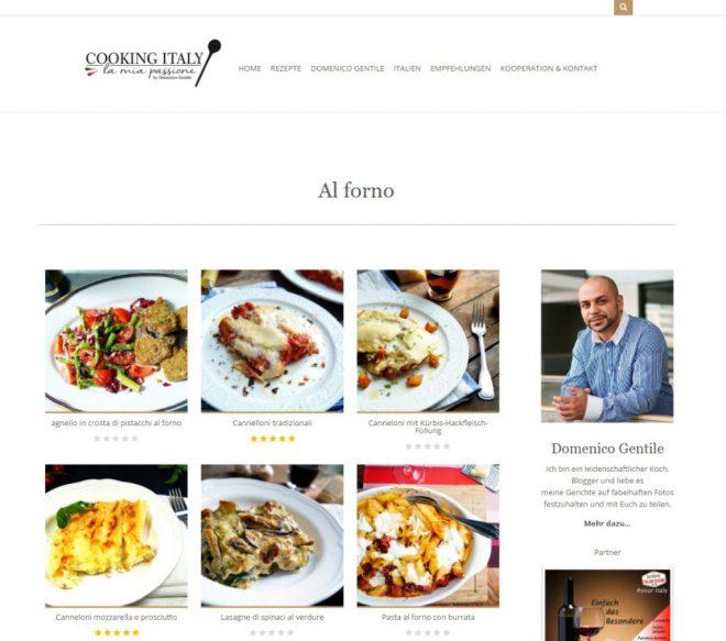 Startseite von Cooking Italy