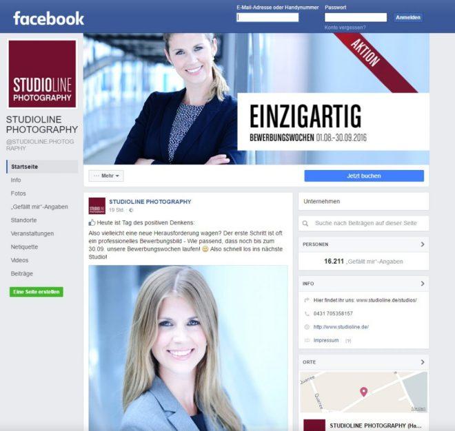 Fotografen-Seite auf Facebook