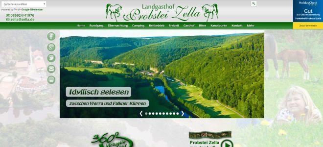Startseite von zella.de