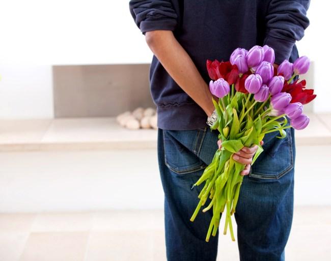Guy Giving Flowers