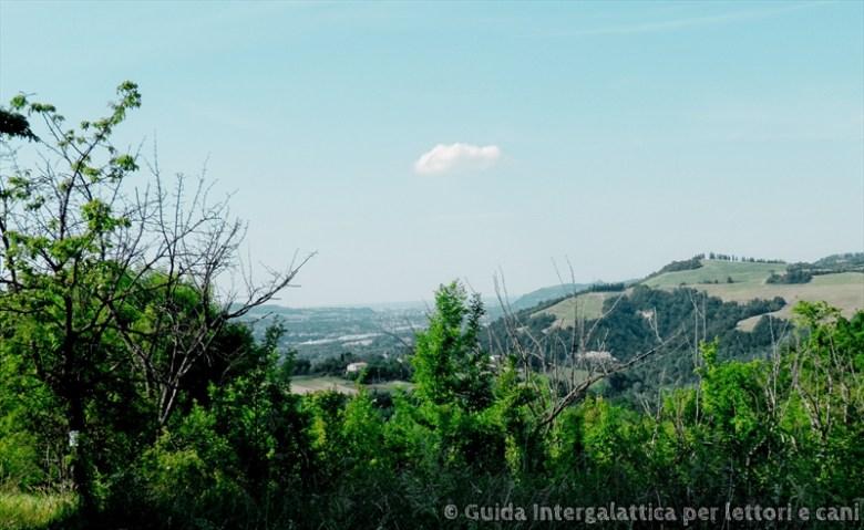 paesaggio 2 - Cammino degli Dei primo giorno : falsa partenza e via verso Badolo
