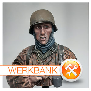 """Kampfpause"" Stavelot / Ardennen Dezember 1944 • Grenadier der ""Kampfgruppe Hansen "" Life - Miniatures 1:10"