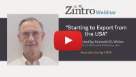 """Starting to Export from the USA"" Presented by Kenneth D. Weiss"