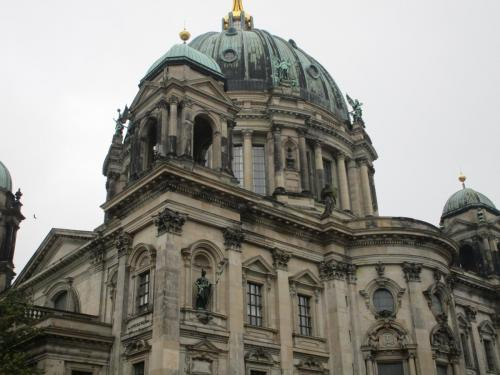On the way back from the park. Later found out this was Berliner Dom.