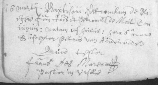 Doop Petronelle De Vlieger (1671)
