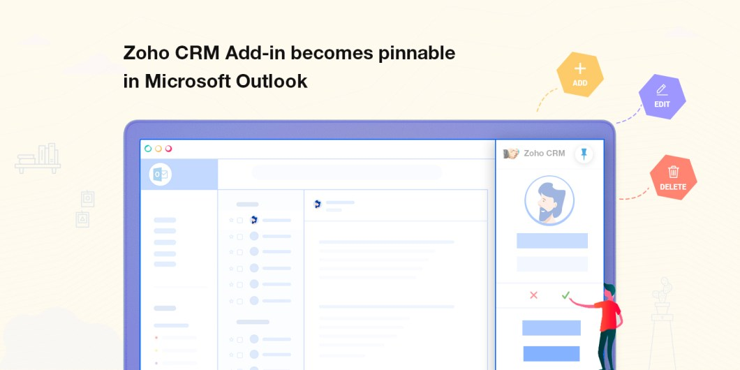 Gerenciar o Zoho CRM a partir do Outlook