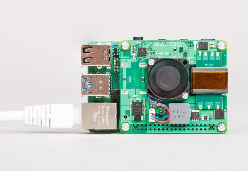 Novinka: Raspberry Pi PoE+ HAT