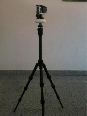 GoPro auf Eieruhr und Stativ
