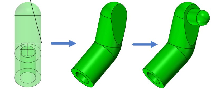Figure 5. Finish the design of the arm