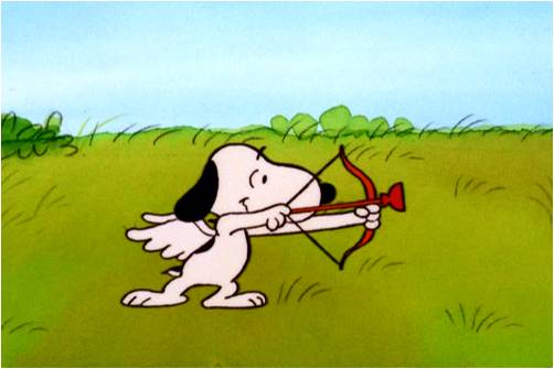 Snoopy as Cupid