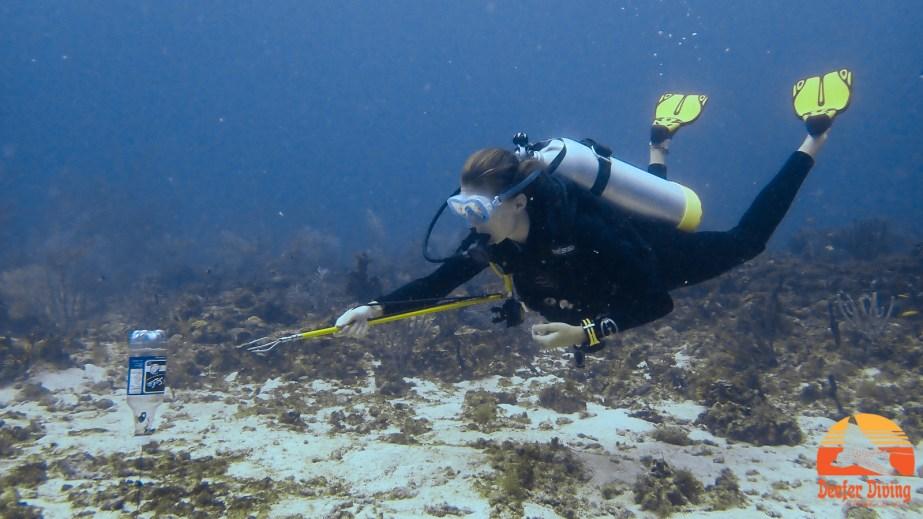 Perfect trim is essential for underwater activites