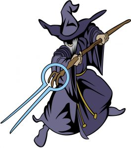 Wizard with Staff (from Clipart.com)