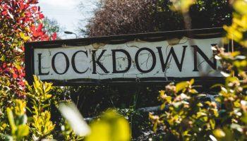 lockdown written among leaves in NYC