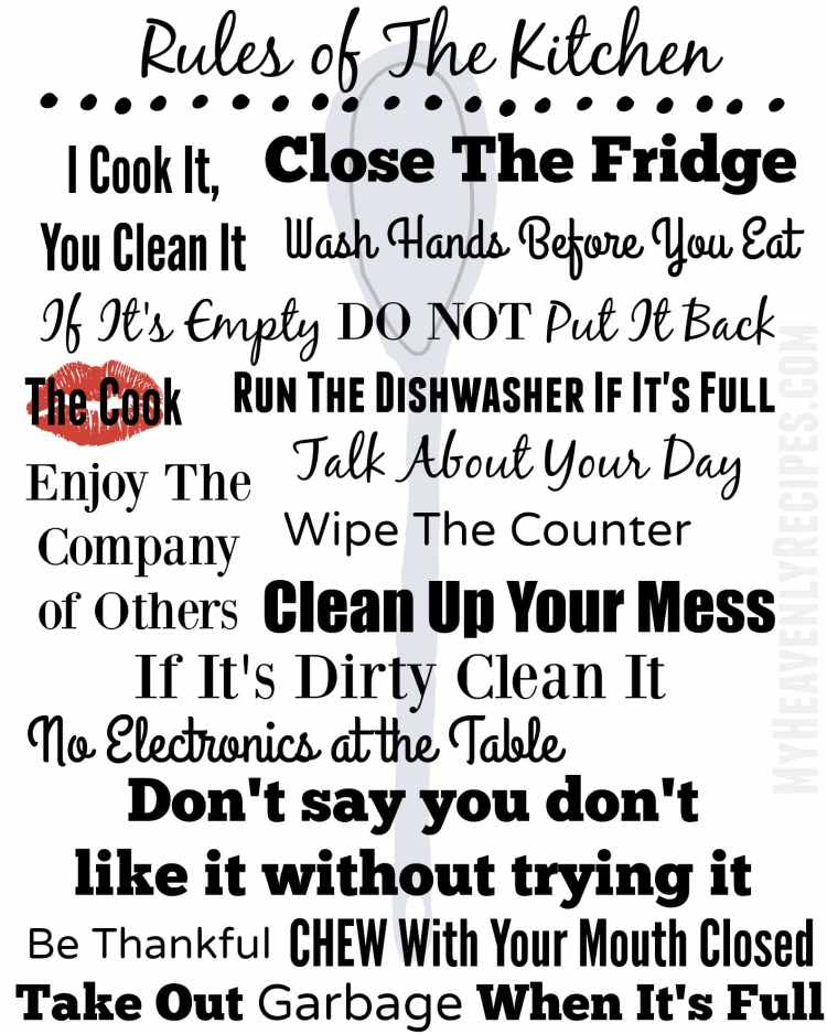 rules of sharing a kitchen