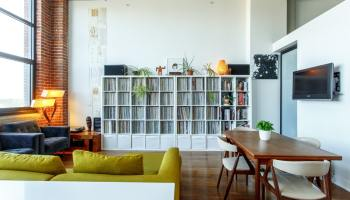 A fully furnished apartment living room