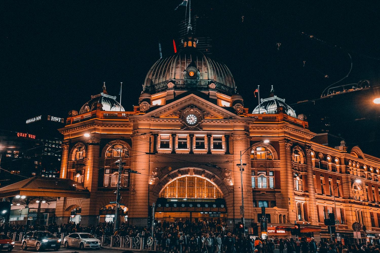 Flinders Train Station. Melbourne, Australia