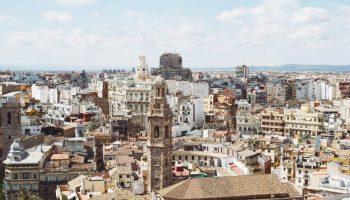 Bird's eye view of Valencia