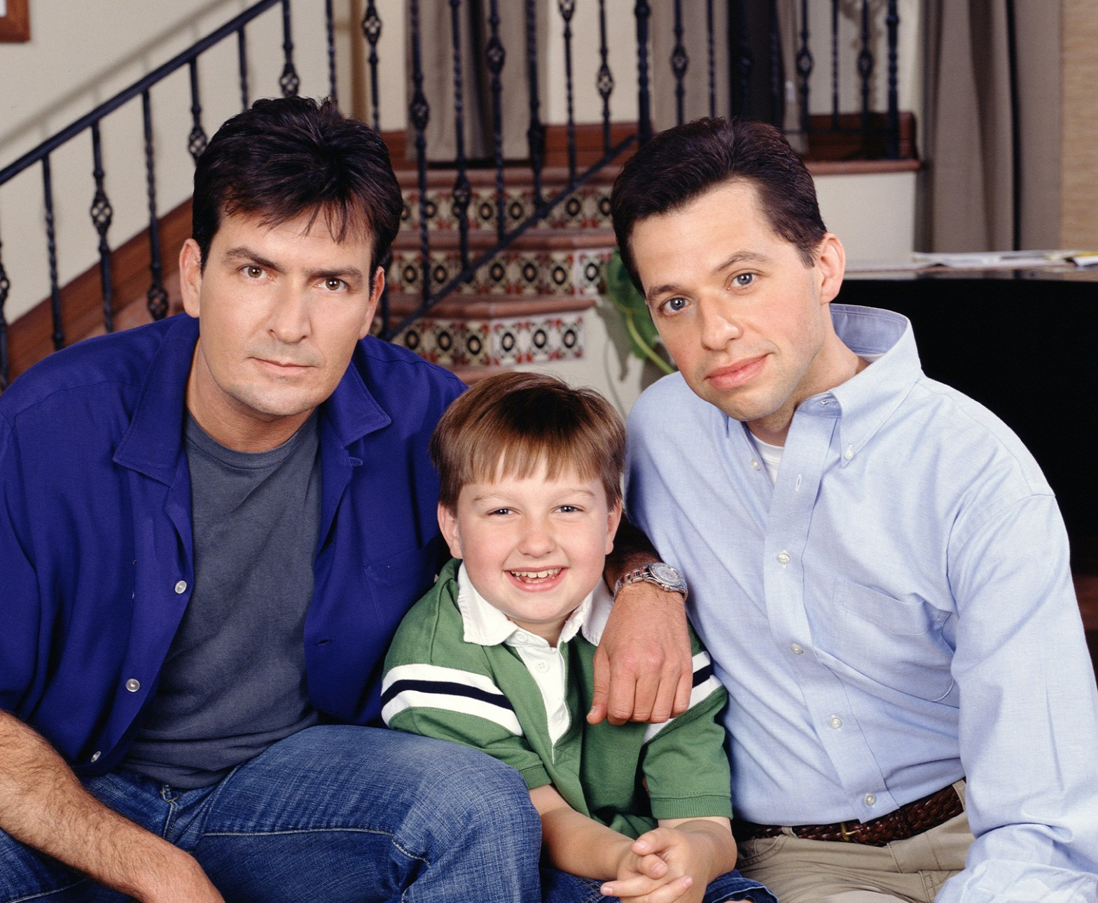 Jake, Charlie and Alan from Two and a Half Men